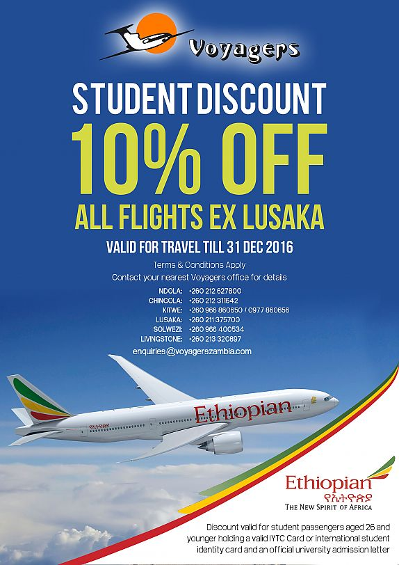 Student Discount on Ethiopian Airlines